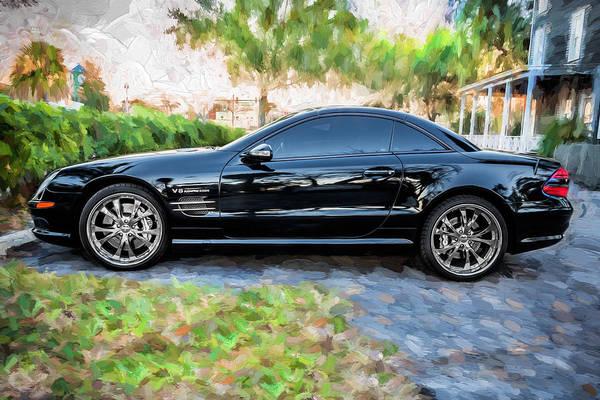 2006 Mercedes Benz Sl55 V8 Kompressor Coupe Painted  Art Print