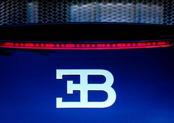 Photograph - 2008 Bugatti Veyron Emblem by Jill Reger