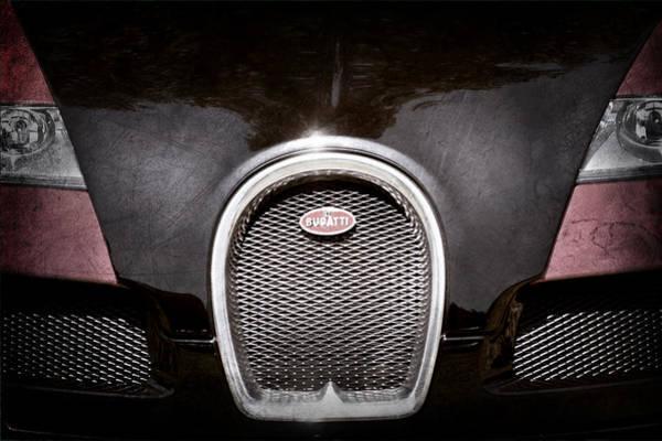 Photograph - 2008 Bugatti Veyron Grille Emblem by Jill Reger
