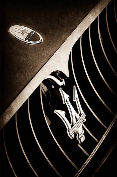 Photograph - 2008 Maserati Granturismo Grille Emblem by Jill Reger