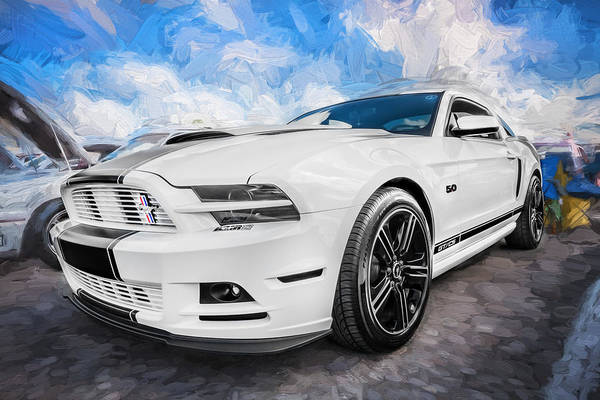 Street Racer Photograph - 2014 Ford Mustang Gt Cs Painted  by Rich Franco
