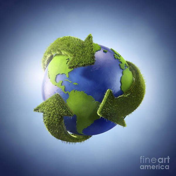 Digital Art - 3d Rendering Of Planet Earth Surrounded by Evgeny Kuklev