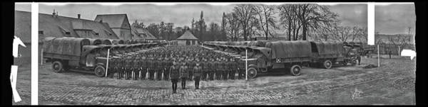 Platoon Wall Art - Photograph - 3rd Army Supply Train, And Motor Park by Fred Schutz Collection