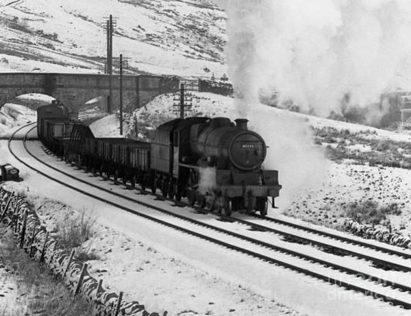 Photograph - 45593 Kholapur Hauling Winter Freight by David Birchall