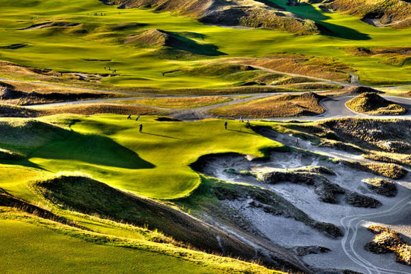 David Patterson Photograph - #9 At Chambers Bay Golf Course by David Patterson