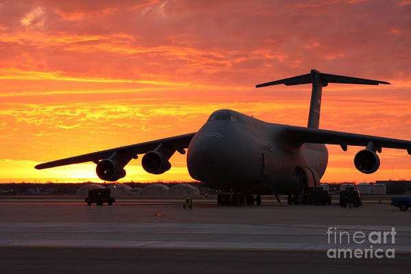 Wall Art - Photograph - A C-5 Galaxy Sits On The Flightline by Celestial Images