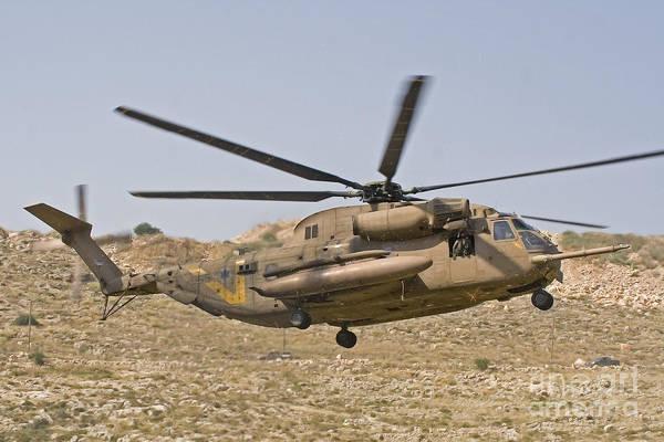 Yasur Photograph - A Ch-53 Yasur 2000 Of The Israeli Air by Ofer Zidon