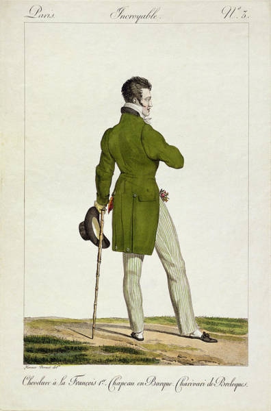Old Style Drawing - A Dandy  by Antoine Charles Horace Vernet