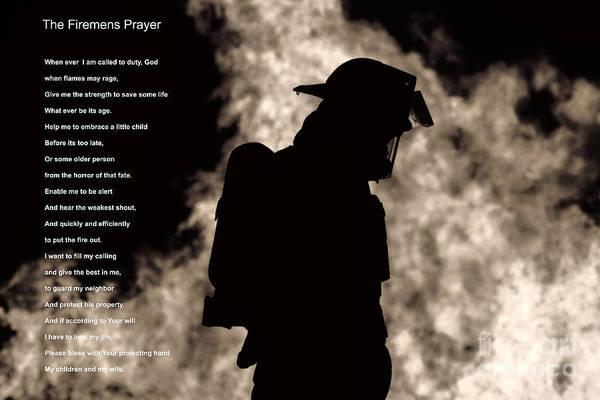 Prayer Photograph - A Firemens Prayer by Jim Lepard