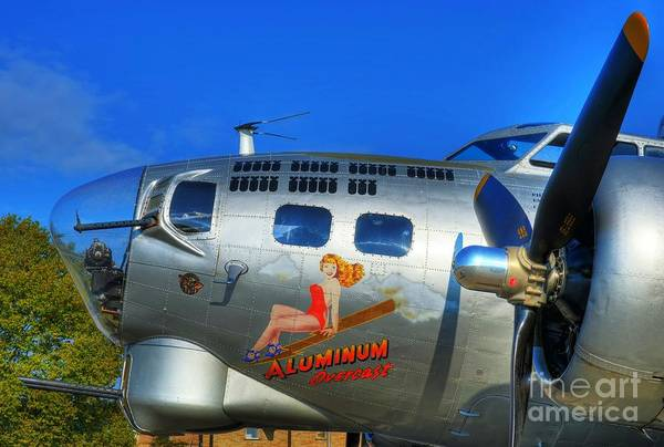 B-17 Bomber Photograph - A Flying Fortress by Mel Steinhauer