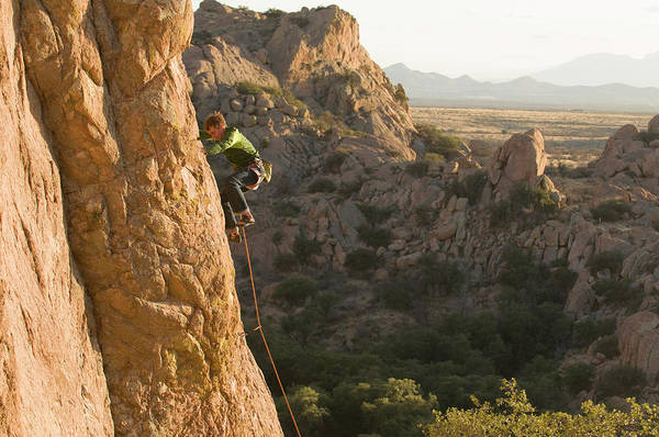 Coronado National Forest Photograph - A Man Rock Climbing In Cochise by Kennan Harvey
