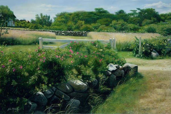 Mooring Painting - A Place Of Peace Martha's Vineyard by Julia O'Malley-Keyes
