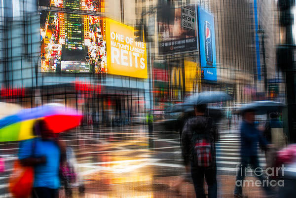 Photograph - A Rainy Day In New York by Hannes Cmarits