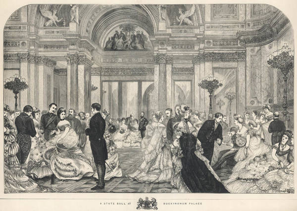 Wall Art - Drawing - A State Ball At  Buckingham Palace by  Illustrated London News Ltd/Mar