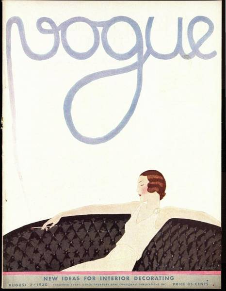 Wealth Photograph - A Vintage Vogue Magazine Cover Of A Woman by Andre E.  Marty
