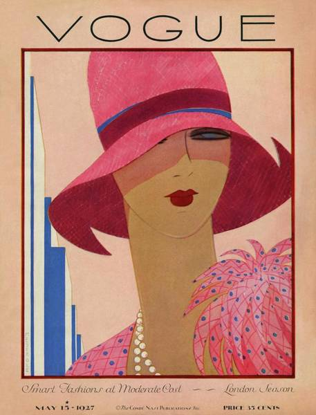 Retro Photograph - A Vintage Vogue Magazine Cover Of A Woman by Harriet Meserole