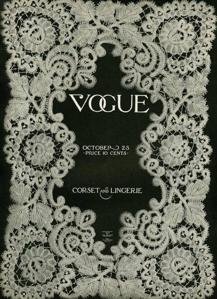 Photograph - A Vintage Vogue Magazine Cover by Artist Unknown