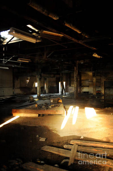 Warehouse Photograph - Abandoned Factory Interior by HD Connelly