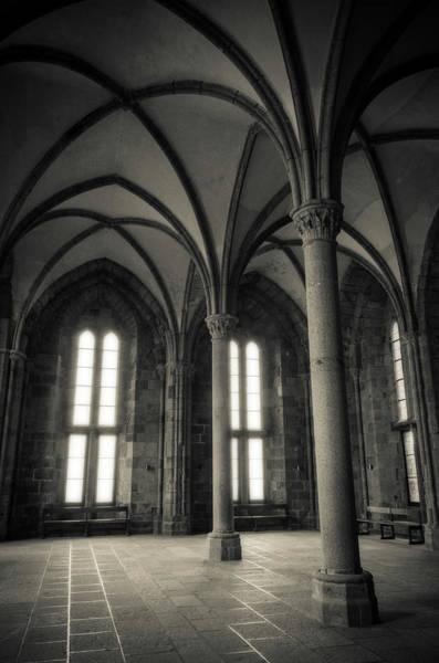 Wall Art - Photograph - Abbey Interior, Mont Saint-michel by Russ Bishop