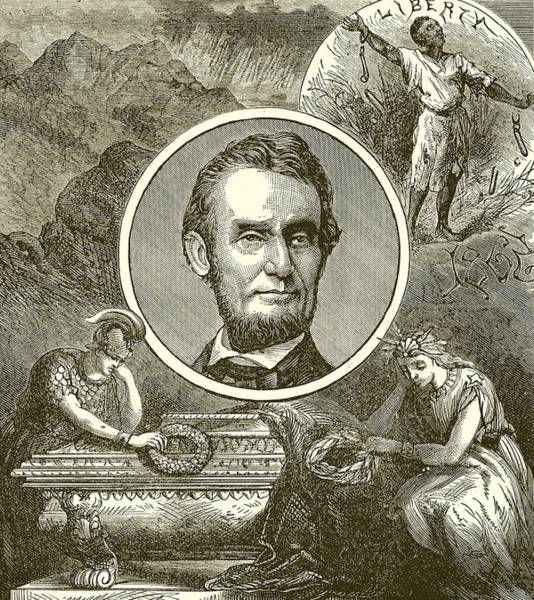 Abe Lincoln Drawing - Abraham Lincoln by English School