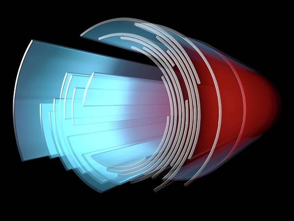 3d Visualization Photograph - Abstract Circular Display Element by Alfred Pasieka/science Photo Library