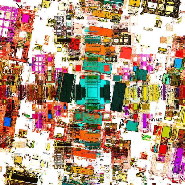 Wall Art - Digital Art - Abstract Geometric Art by Phil Perkins