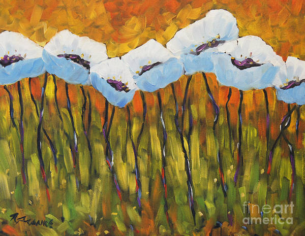 Canadiens Painting - Abstract Poppies by Richard T Pranke