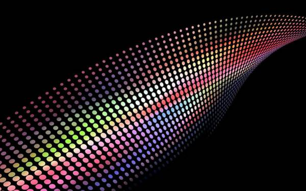 Wall Art - Photograph - Abstract Wave Made Of Coloured Dots by Alfred Pasieka/science Photo Library