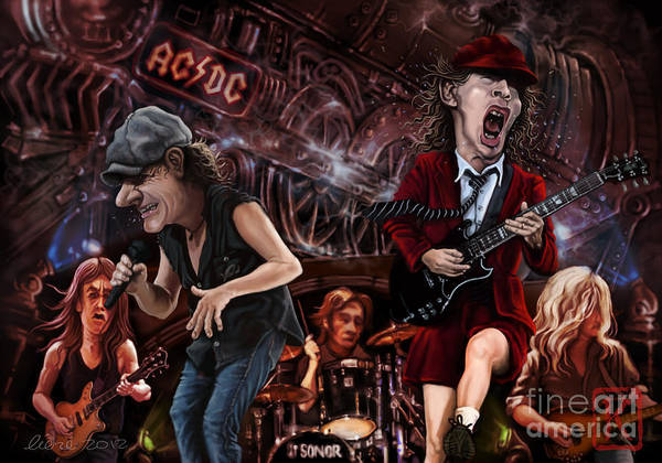 Wall Art - Digital Art - Ac/dc by Andre Koekemoer