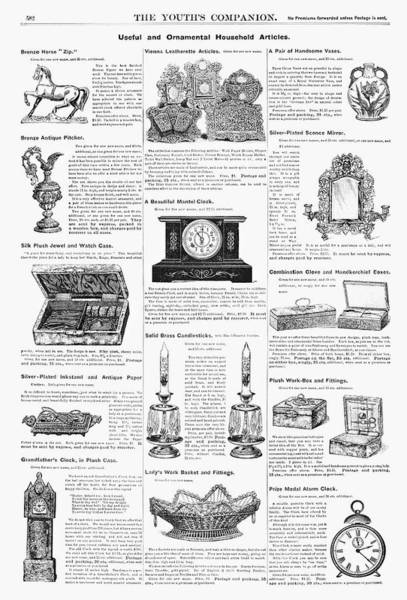 Grandfather Clock Painting - Ad Housewares, 1890 by Granger