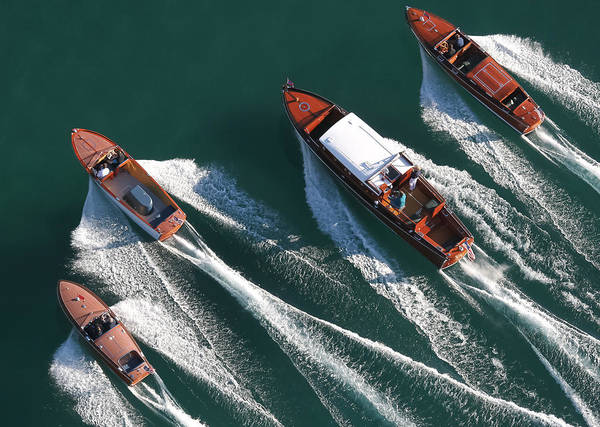 Outboard Engine Photograph - Aerial Classics by Steven Lapkin