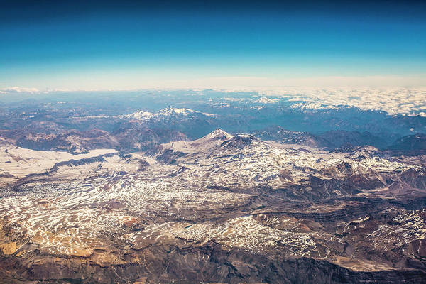 Mendoza Province Photograph - Aerial View Of Andes Mountains by Tim Martin