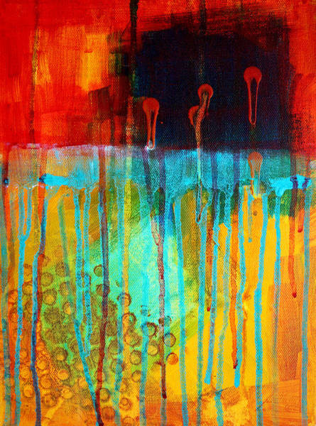 Drip Wall Art - Painting - After Midnight by Nancy Merkle