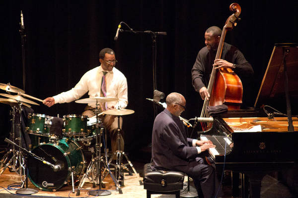 Photograph - 2 Ahmad Jamal Pdx Jazz Fest 21feb14 by Lee Santa