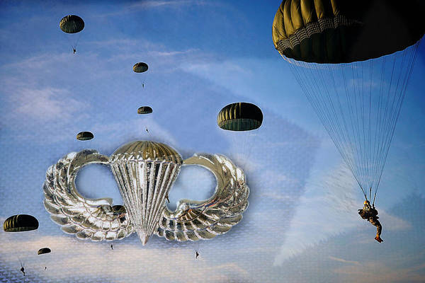 Military Air Base Photograph - Airborne by JC Findley