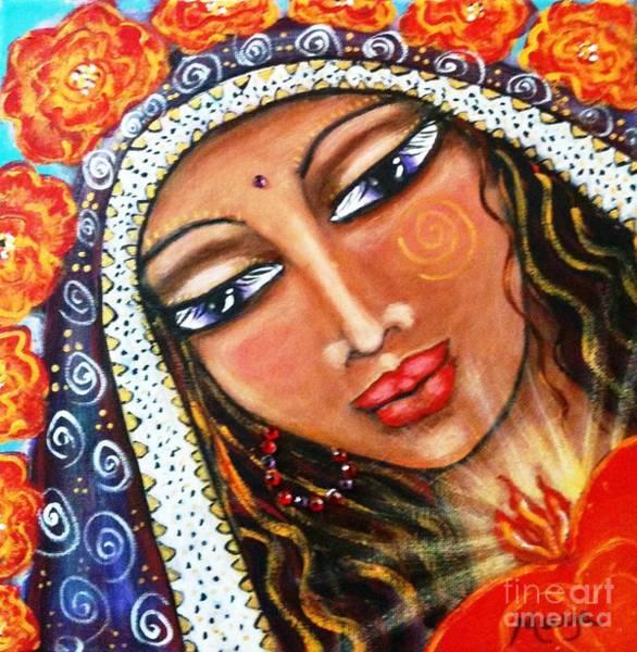 Sacred Heart Mixed Media - Akasha - She Who Carries The Memories by Maya Telford