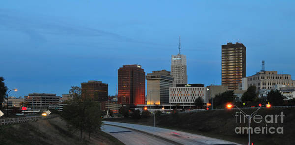 Photograph - D1u-131 Akron Ohio Skyline Photo by Ohio Stock Photography