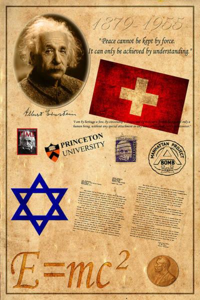 Albert Einstien Photograph - Albert Einstein by Andrew Fare