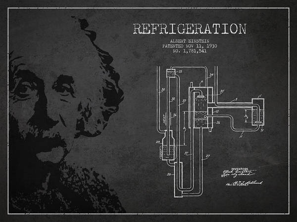 Einstein Wall Art - Digital Art - Albert Einstein Patent Drawing From 1930 by Aged Pixel