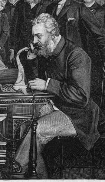 Wall Art - Drawing - Alexander Graham Bell  American by Mary Evans Picture Library