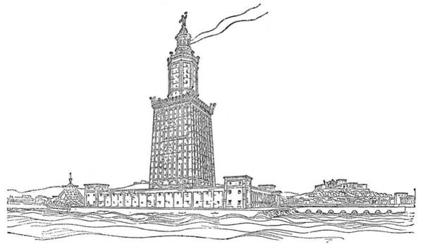 Wall Art - Drawing - Alexandria Lighthouse by Granger