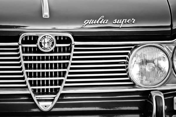 Photograph - Alfa-romeo Guilia Super Grille Emblem by Jill Reger