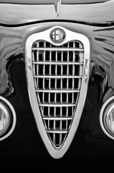 Photograph - Alfa Romeo Milano Grille Emblem by Jill Reger