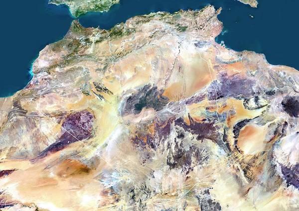 Sahara Photograph - Algeria by Planetobserver/science Photo Library