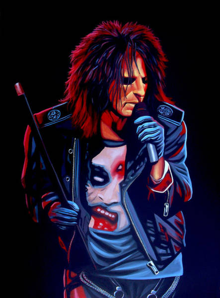 Hard Rock Wall Art - Painting - Alice Cooper  by Paul Meijering