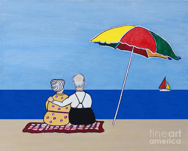 Elderly Wall Art - Painting - Always Together by Barbara McMahon