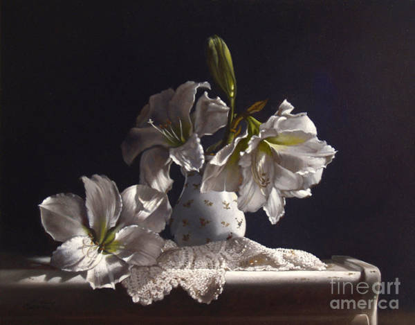 Wall Art - Painting - Amaryllis Study by Lawrence Preston