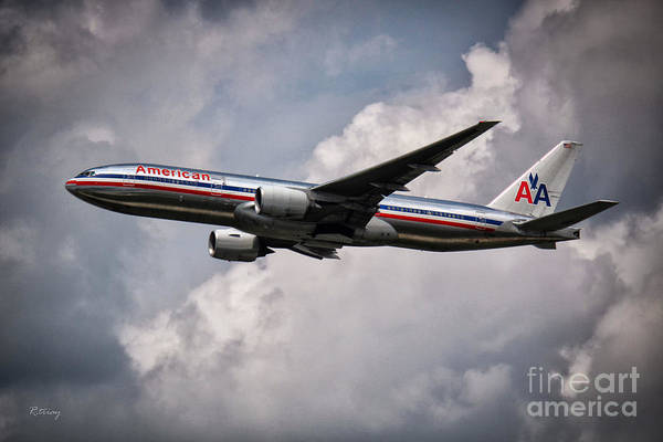 First Officer Photograph - American Airlines Boeing 777 by Rene Triay Photography