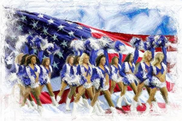 Cheerleaders Digital Art - Americas Sweethearts  by Carrie OBrien Sibley