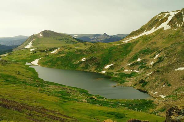 Tundra Swan Photograph - An Alpine Lake On Beartooth Pass by Jeff Swan